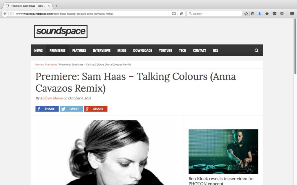 Anna Cavazos featured on Soundspace